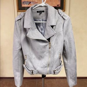 Romeo + Juliet Couture Gray Moto Jacket